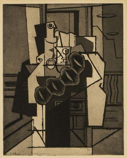 Louis MARCOUSSIS (1878-1941) Intérieur au...