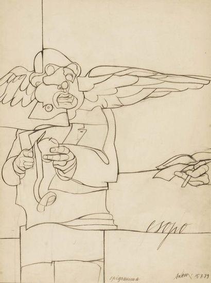 Valerio ADAMI (né en 1935) Esopo - epigramma...