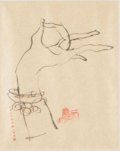Jean-Pierre Roc-Roussey (1951) La main Dessin...