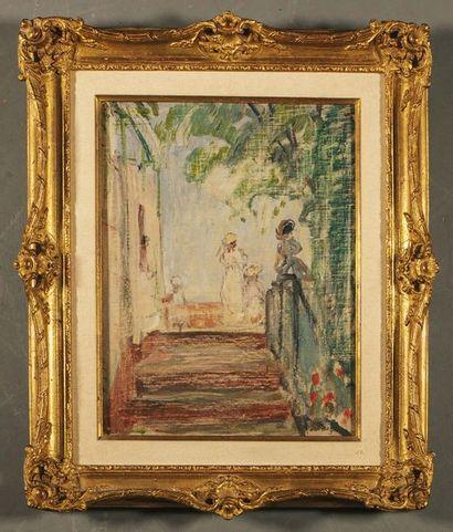 Henri LEBASQUE (1865-1937) Etude pour « Jeunes...