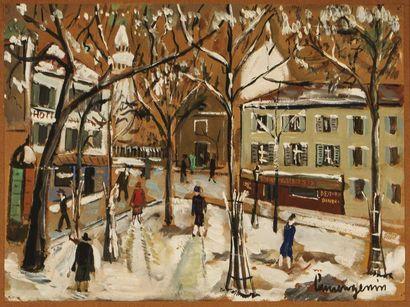 Lucien GENIN (1894-1953) Montmartre sous...