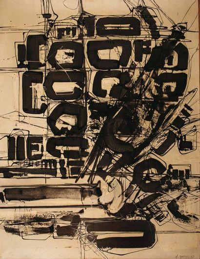 Claude GEORGES (1929-1988) Sans titre Huile...