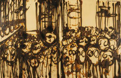Claude VISEUX (1927-2008) Sans-titre Paire...