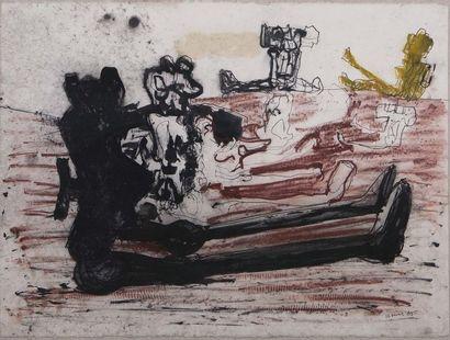 Claude VISEUX (1927-2008) Sans-titre Aquarelle,...