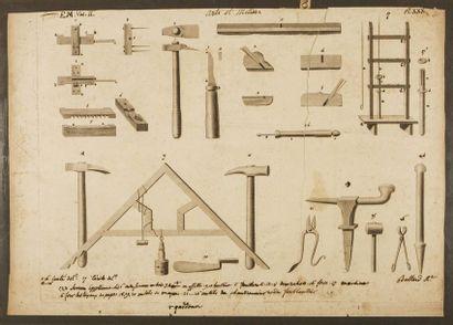 Planche d'outils Gravure annotée Arts et...