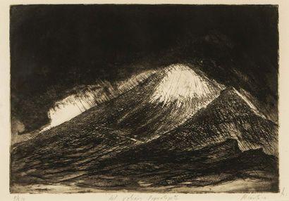 Ernesto ALCANTARA (1933) Del volcan Popocateptl...