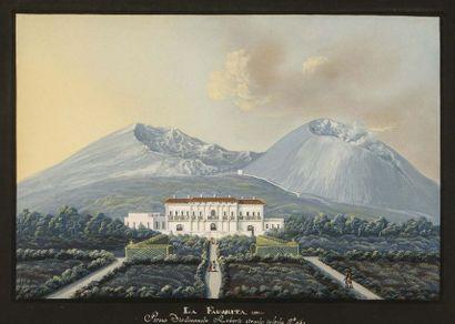 Ecole Napolitaine du XIXème La Fauorita Imacolatella...