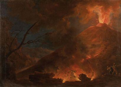 Attribué à Jacob MORE (1740 – 1793) Volcan...