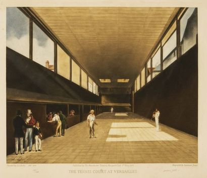 Lawrence JOSSET (1910-1995) The tennis court...