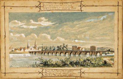 École Française du XIXème siècle Le pont...