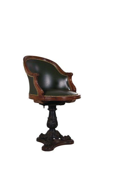 Petit fauteuil de bateau en bois naturel,...