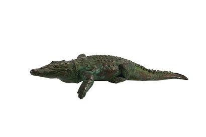 École du XXème siècle Crocodile Sculpture...