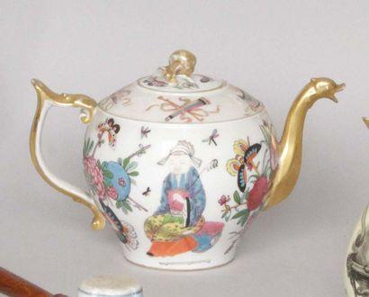 Bayeux Théière couverte en porcelaine à décor...