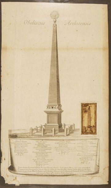 Gravure Obeliscus Arelatensis, 1726, par...