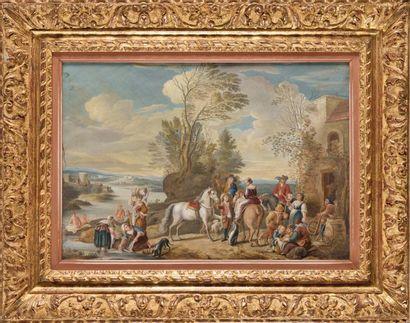 Ecole FLAMANDE vers 1800 Le retour de la...