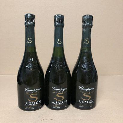 3 bottles CHAMPAGNE SALON 1971 Cuvée