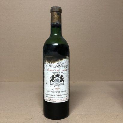1 bouteille CHÂTEAU COS LABORY 1970 GC (niveau...