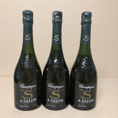 3 bottles CHAMPAGNE SALON 1973 Cuvée
