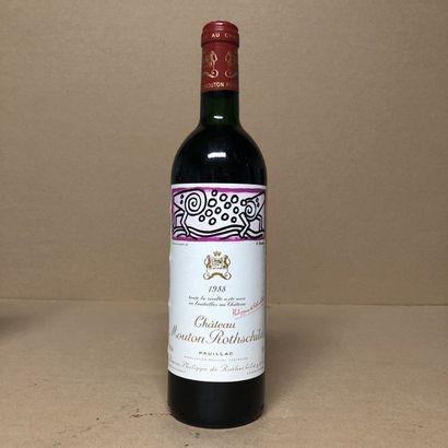 1 bouteille CHÂTEAU MOUTON ROTHSCHILD 1988...