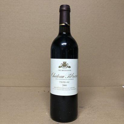 1 bouteille CHÂTEAU PIBRAN 2000 (niveau très...