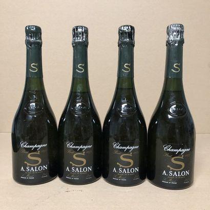 4 bottles CHAMPAGNE SALON 1973 Cuvée