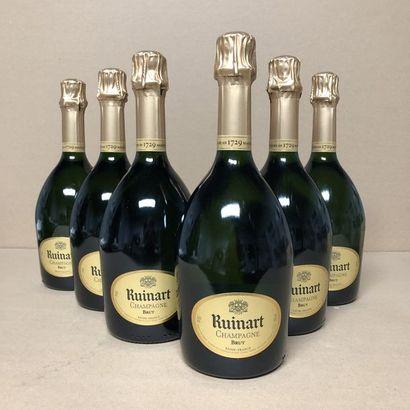 6 bottles CHAMPAGNE RUINART Brut