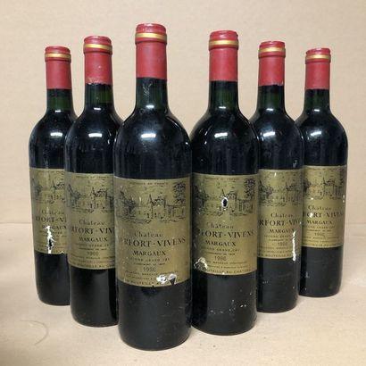6 bouteilles CHÂTEAU DURFORT-VIVENS 1986...