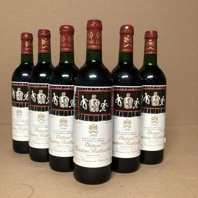 6 bouteilles CHÂTEAU MOUTON ROTHSCHILD 1994...