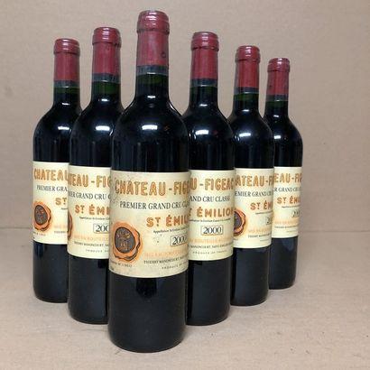 6 bouteilles CHÂTEAU FIGEAC 2000 1er GCC...