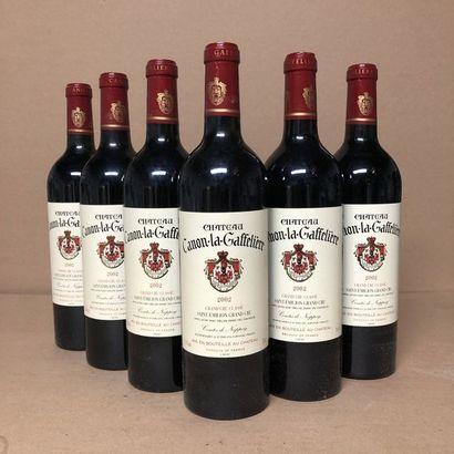 6 bouteilles CHÂTEAU CANON LA GAFFELIERE...