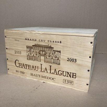 6 bouteilles CHÂTEAU LA LAGUNE 2003 3e GC...