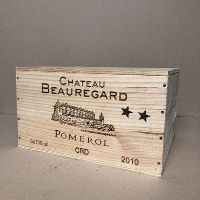 6 bouteilles CHÂTEAU BEAUREGARD 2010 Caisse...