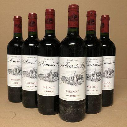 6 bouteilles CHÂTEAU LA TOUR DE BY 2012 (étiquettes...