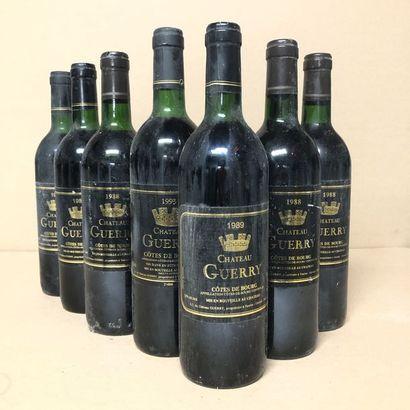 7 bouteilles : 3 CHÂTEAU GUERRY 1988 Côtes...