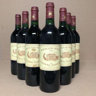 7 bouteilles PAVILLON ROUGE DU CHÂTEAU MARGAUX...