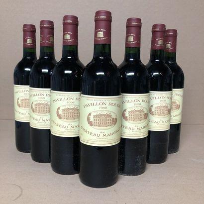 7 bouteilles PAVILLON ROUGE DE MARGAUX 1998...