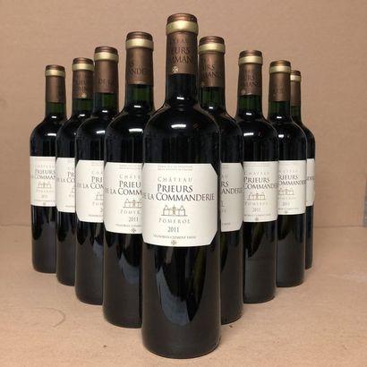 9 bouteilles PRIEURS DE LA COMMANDERIE 2011...