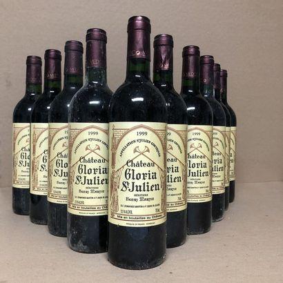 10 bouteilles CHÂTEAU GLORIA 1999 (étiquettes...
