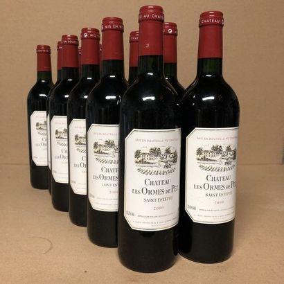 12 bouteilles CHÂTEAU LES ORMES DE PEZ 2000...