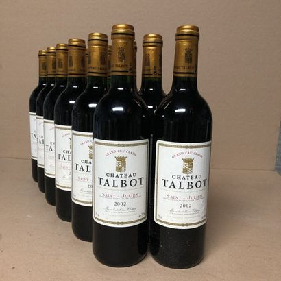 12 bouteilles CHÂTEAU TALBOT 2002 4e GC Caisse...