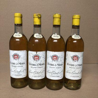 4 bouteilles ENTRE DEUX MERS 1970 (niveaux...