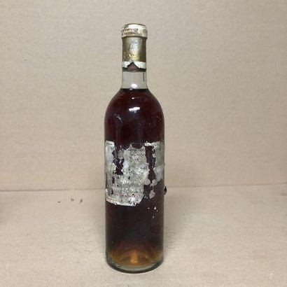 1 bouteille CHÂTEAU D'YQUEM 1955 1er Cru...