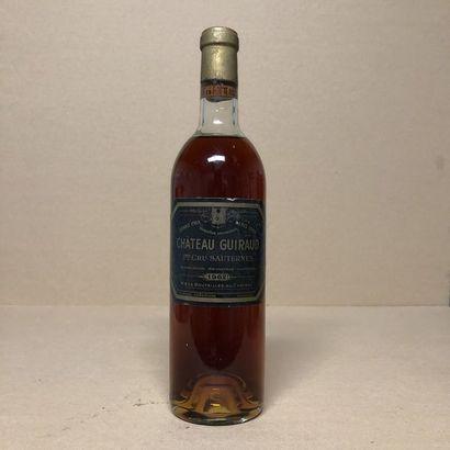 1 bouteille CHÂTEAU GUIRAUD 1962 1er Cru...