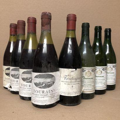 8 bottles: 1 TOURAINE 1977 Charles Bardin,...
