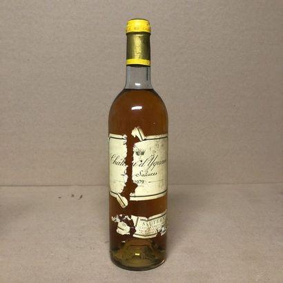 1 bouteille CHÂTEAU D'YQUEM 1979 1er Cru...