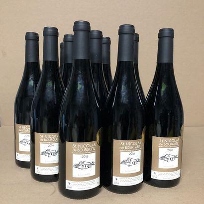 12 bottles SAINT-NICOLAS DE BOURGEUIL 2016...