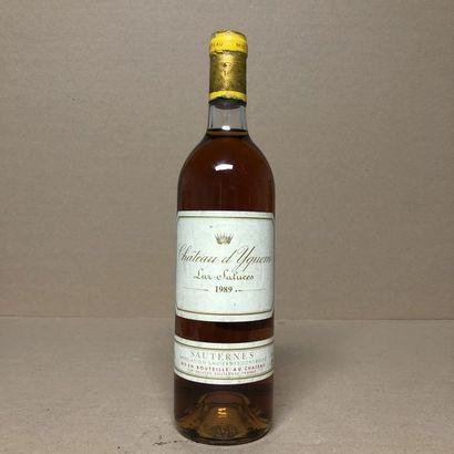 1 bouteille CHÂTEAU YQUEM 1989 1er Cru Supérieur...