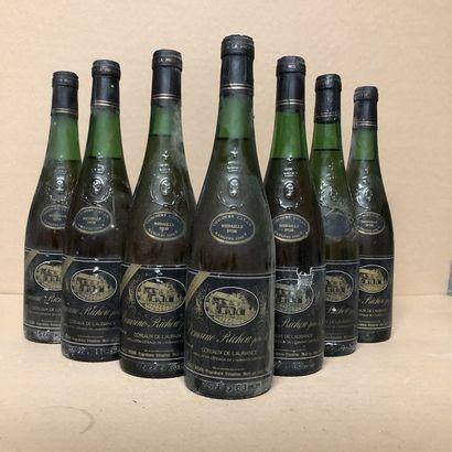 6 bottles COTEAUX DU L'AUBANCE 1984 (levels:...