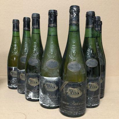 8 COTEAUX DU L'AUBANCE 1983 bottles (level:...