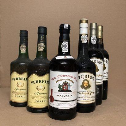 6 bouteilles : 1 PORTO REAL CAMPANHIA VELHA...